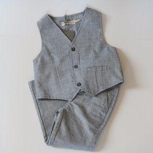 Toddler Boys Grey Dress Pants